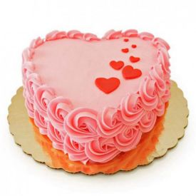 Heart shaped flower Cake